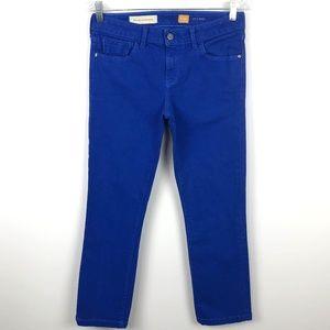Anthro Pilcro Stet Cobalt Blue Ankle Crop jeans 27